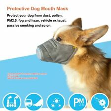 Dog Mouth Mask Anti Smoke Pet Face Cover Fog Pollution Breathable Muzzle 3pcs