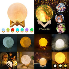 3D Print Venus Moon Lamp USB Colorful Change Touch Switch Night Light Xmas LOT