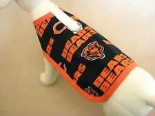Dog Harness Clothes Coat Made From  NFL Chicago Bears Fabric