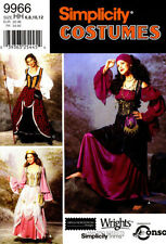 Simplicity 9966 Misses' Fantasy Dress Costumes Pattern Sz 6-12 or 14-20
