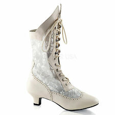 Victorian Lace Insert High Granny Wedding Boot Dame 115