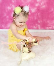 Newborn Baby Girl Yellow Lace Ruffle Petti Romper NB-3Y
