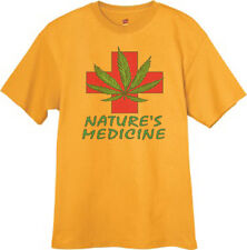 Medical Marijuana Weed Pot 420 Tee Shirt YELLOW T-SHIRT