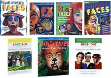 SNAZAROO FACE & BODY PAINT PAINTING DESIGN GUIDE BOOKS