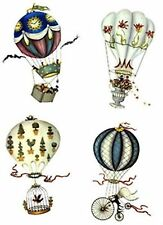 Hot Air Balloon Steampunk Select A Size Waterslide Ceramic Decals