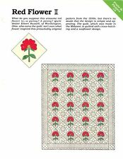 Red Flower ~ Quilt & Block, Spinning Spools quilt sewing pattern & templates