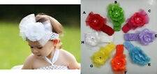 BABY TULLE CLIP CROCHET HEADBANDS SUITABLE FROM 0 - 8 YEARS