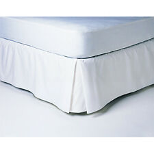 """Twin XL Size 450TC Combed Cotton Solid Pleated Tailored Bed Skirt,15"""" Drop."""