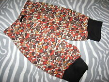 NEW Baby Girls  Black brown rusts autumn flowers floral Leggings Trousers party