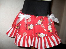 new Baby Girl  Black,white & red cute xmas  santa & candy cane party Skirt