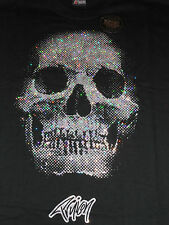 NEW Men's TruIcon Ice Tees Glitter Skull Black T-Shirt - XL 2XL 3XL 4XL