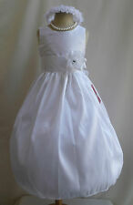 New JC WHITE COMMUNION EASTER SPRING BRIDESMAID WEDDING PARTY FLOWER GIRL DRESS