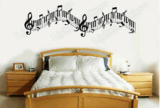 Music Notes Piano Vinyl Sticker Wall Art Lounge Bedroom Living Room HS WA14