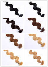 "100S 20"" Remy Nail Tip Bodywavy Human Hair Extensions 50g, 9 colors available"