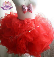 Decora Fairy Lolita Goth Bubble Rose 8 Layer Tier Tutu Tulle Frilly Petal Skirt
