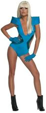 Lady Gaga Poker Face Video Swimsuit Blue Pop Rock Star Halloween Adult Costume