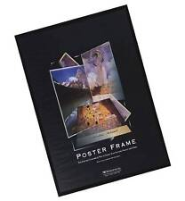 Black Poster Frame Crystal Clear Solid Back Not Cardboard More Sizes Available
