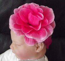 BABY GIRL BOUTIQUE LARGE 4 INCH FLOWER SEQUIN HEADBAND VARIOUS COLOURS & STYLES