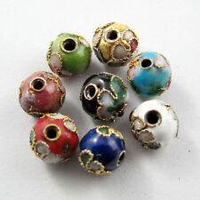 Cloisonne Enamel Round Spacer Bead 8Colors-1 Or Mixed 6mm Or 8mm R311