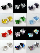 10Pcs Glass Crystal Butterfly Spacer Bead 12Colors-1 14mm R322