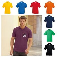NEW CUSTOM PRINTED PERSONALISED POLO SHIRT WORK OFFICE DARTS BUSINESS STAG HEN
