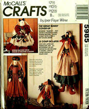 McCall's 5985 Bunny Vacuum Cleaner/Sewing Machine Cover Pattern Cut or Uncut