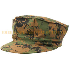 Marine Corps USMC Woodland Digital Camouflage 8 Point Fatigue Cap Hat FREE SHIP