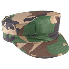 Woodland Camouflage Rip-Stop Marine Corps Cap 8 Point Hat No Emblem - FREE SHIP