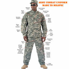 Army ACU Digital Camouflage Combat Uniform Jacket Shirt - FREE SHIPPING