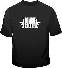 Zombie Killer B Movie Cult Horror Mens Loose Fit Cotton T-Shirt