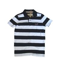 BRAND NEW HOLLISTER MEN WHITE/ NAVY STRIPE SHAWS COVE POLO T-SHIRT SIZE SMALL
