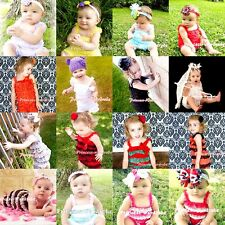 BRILLIANT NewBorn Baby Lace Jumpsuit Ruffles ONE PIECE Petti Romper Girl NB-3Y