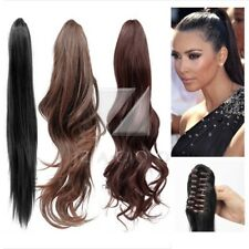 "Claw Clip In Pony Tail Hair Extension New Style 22"" 20"" 18"" Hairpiece"