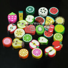 100 500 1000 X Nail Art DIY mixed fimo Polymer Clay Spacer Beads Hole 6mm 10mm