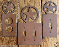 New Western Texas Star Outlet Switch plate Cover Rustic Metal Decorator Home