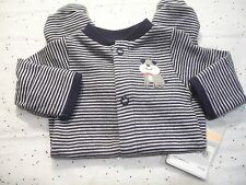 CARTER'S BABY BOY'S OUTFIT FOOTED SLEEP AND PLAY STRIPED PUPPY DOG  NWT