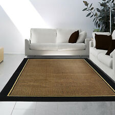 Black Beige Multi-Color  Modern Area Rug Contemporary Solid Border Carpet
