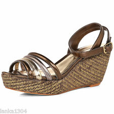 Dorothy Perkins Bronze Venice platform Heel Party Strappy sandals (NEW) £35.00