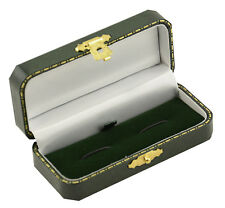 1 x Luxury Antique Style Leatherette Cufflink Box - Colour Choice -Free Delivery