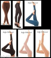LEGGING LEGGINS FEMME STRETCH COLLANT UNI BEIGE NOIR BLEU TAUPE MARRON CALECON