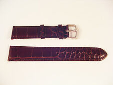 NEW BROWN LEATHER CROCODILE STYLE CUSHIONED WATCH BAND STRAP 16mm-24mm LUG SIZES
