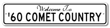 1960 60 MERCURY COMET Aluminum Welcome to Car Country Sign