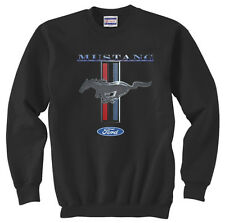 Ford Mustang Pony classic design black sweat shirt Crewneck Pullover Sweatshirt