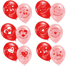 Valentine's Day Printed Red Pink Balloons All in One Listing