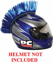 Helmet Blue Mohawks PC Racing All Colors Interchangable Mohawk