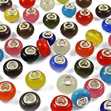 5 10 25 50 100Pcs Mixed CATS EYE LAMPWORK Murano Glass BEADS for CHARM BRACELETS