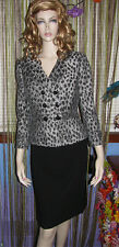 NEW TAHARI ASL Jacquard LEOPARD ANIMAL PRINT DoubleBreasted SKIRT SUIT 4 10 $280