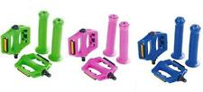"New Zombie Bmx Bike 1/2"" Pedals & 22.2mm Handlebar Grips Set 4 colours Available"