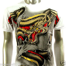 Artful Couture T-Shirt Sz M L XL XXL Dragon Kirin Tattoo Rock Biker Metal AW57