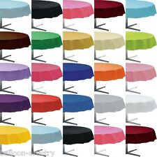 """84"""" Round Plastic Table cover Solid Colour Tableware All Colours One Listing"""